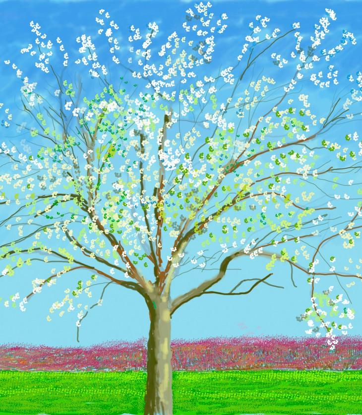 Key 21 David Hockney, No. 133, 23rd March 2020 iPad painting © David Hockney